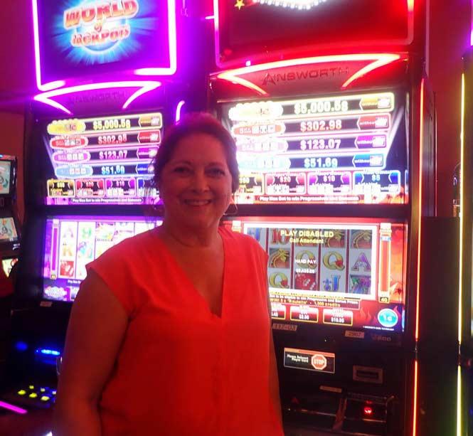 Jackpot Winner Magaly V. Acosta smiling