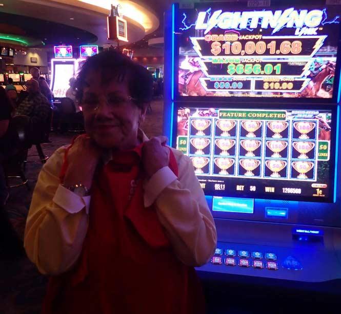 Jackpot Winner Tina Colt smiling