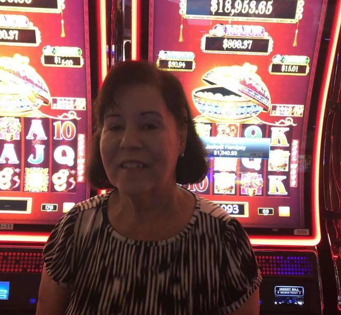 Jackpot Winner Berta D. Gonzalez smiling
