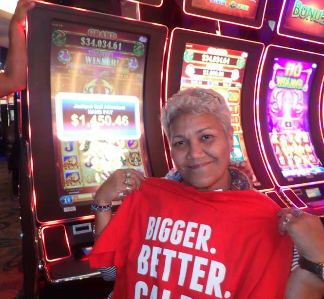 Jackpot Winner Esther Vargas smiling