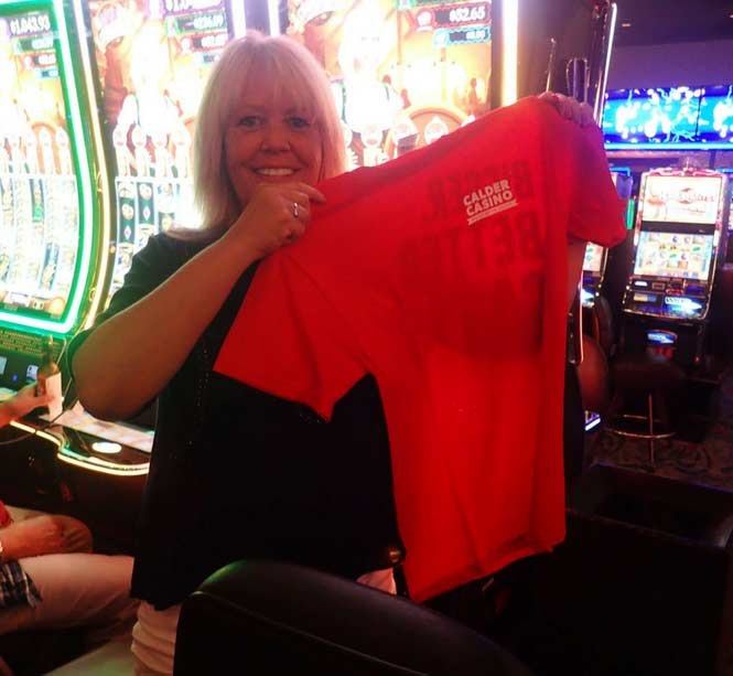 Jackpot Winner Gena C. Barthel smiling