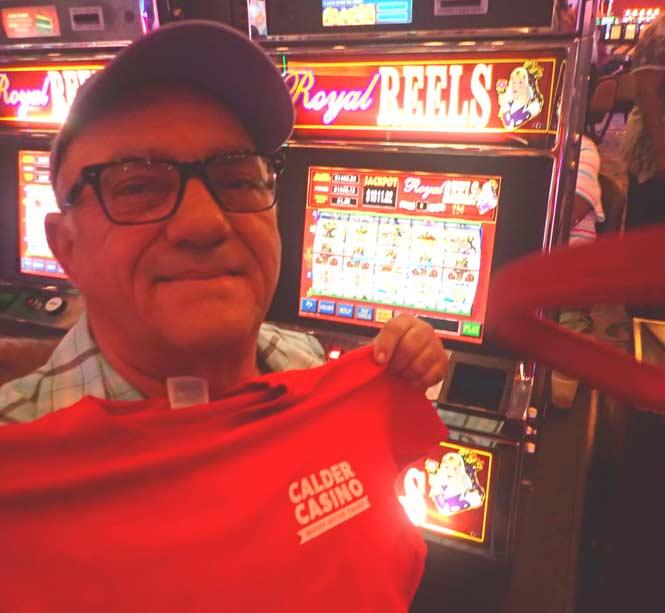 Jackpot Winner Minelio Rodriguez smiling